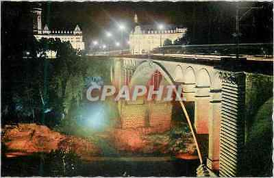 CPM Luxembourg Le Pont Adolphe illumine