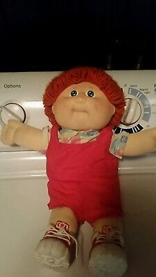 Vintage Cabbage Patch Doll 80s Boy Red Hair Blue Eyes Shoes Excellent Condition