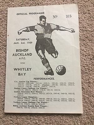 BISHOP AUCKLAND  v WHITLEY BAY NORTHERN LEAGUE  1959