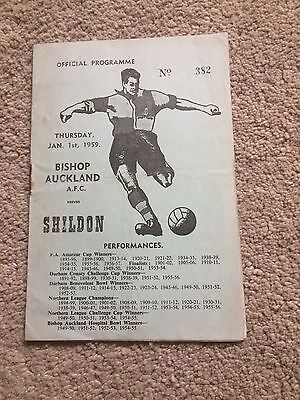 BISHOP AUCKLAND v SHILDON  NORTHERN LEAGUE  1959