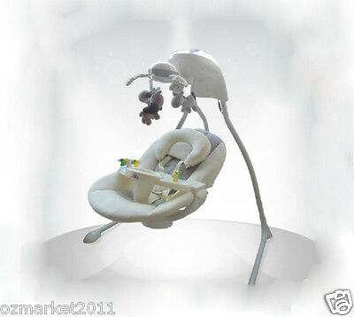 European Security Grey Comfortable Baby Swing Chair/Baby Electric Rocking Chair
