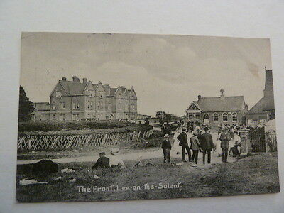 PRINTED POSTCARD THE FRONT LEE - ON - THE - SOLENT POSTED in 1914