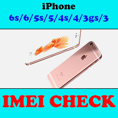 Fast iPhone 7 6s 6 5s 5 4s 4 IMEI check Country Network Carrier Check Sim lock