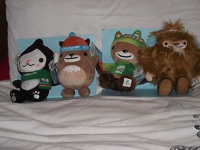 Vancouver 2010 Winter olympics mascots x4