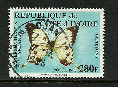 Ivory Coast #981B Used Stamp - Butterfly