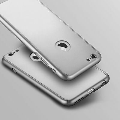 Hybrid 360° Ultra Thin Silver Case+Tempered Glass For iPhone 6/6s [lz8