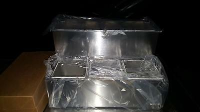 Server Products 67800 Two Tiered Condiment Dispenser & Insulated Back Rail