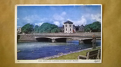 A postcard of the River Corrib and Claddagh Bridge,Co.Galway,Ireland.