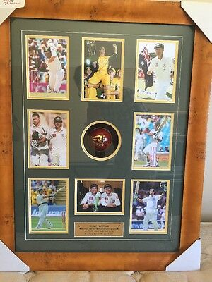 Ricky Ponting SIGNED, AUTHENTIC  FRAMED Match Ball And Collage