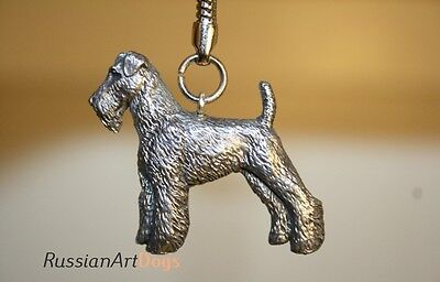 Keychain (Key ring) figurine Airedale Terrier dog