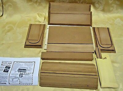 Woodcraft Magazine Solid Cherry Rolltop Box Wood working Project Kit