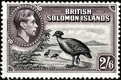 British Solomon Is 1939 - SG #70, 2sh6d - Bismarck Scrub Fowl - KGVI - MVLH, £28