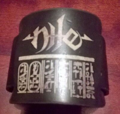 Nile death metal leather wrist cuff