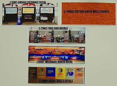 1:64 Scale Kit Of 9 Muscle Garage Shop Decalals.