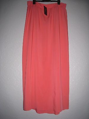 New Look Size 14 Maternity Maxi Skirt Coral Orange Pink BNWT Summer Beach Cool