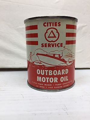 Vintage Cities Service Outboard Motor Oil 2 Cycle/stroke