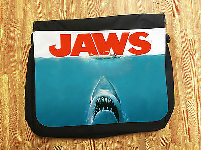 Jaws Spielberg Classic Universal Film Movie Messenger School College Uni Bag New