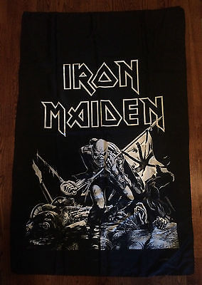 Iron maiden - Vintage 80s The Trooper tapestry poster banner flag.