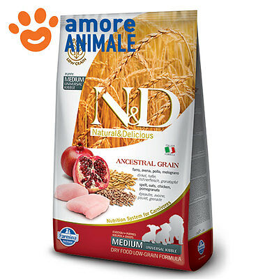 Farmina N&D Dog Ancestral Puppy Medium pollo & melograno 12 kg - Crocchette cane