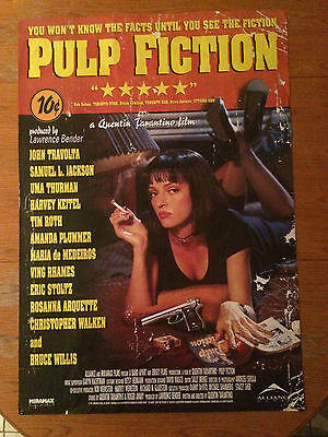 Pulp Fiction (1994) Promotional Movie Poster Canadian Version