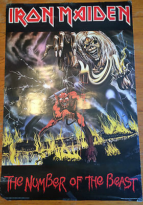 Iron Maiden Vintage Poster 1982 The Number of the Beast 304 P3342