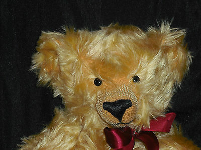 Merrythought Gold Mohair Teddy Bear England Limited Edition Oliver Holmes Sound