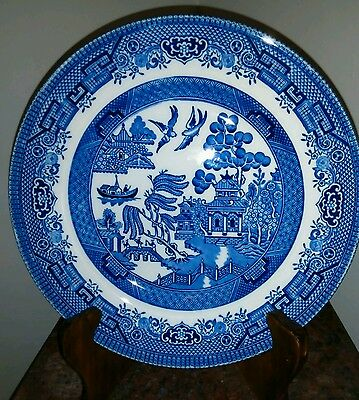 Blue Willow Salad Plate Made in CC England, Diameter  8 inches. EUC
