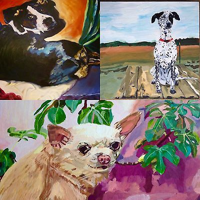 Pet Portrait Dog Painting Wall Art Artistic Service One Of A Kind