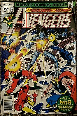 The Avengers 162 35 Cent Variant August 1977 Marvel Comics Group High Grade Rare