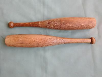 "Vintage Pair 17"" Wooden Juggling / Exercise Clubs"