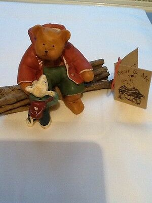 bear and me collection, bear on twigs with mouse
