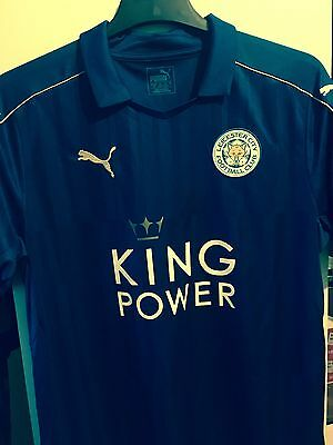 Wes Morgan Signed Leicester City Premiership Champions Shirt 2016