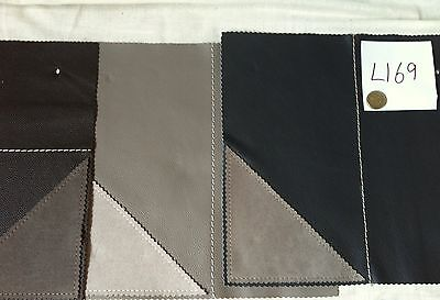 L169 Real leather 3 pieces. 11 x 10 inches brown grey