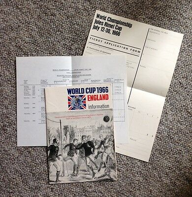 1966 World Cup Ticket Application Pack