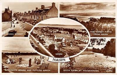 Nairn High Street Moray Firth Draughts Board Putting Green Whinniknowe 1955