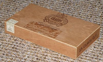 Four wooden cigar boxes, craft, storage, etc. No cigars included.