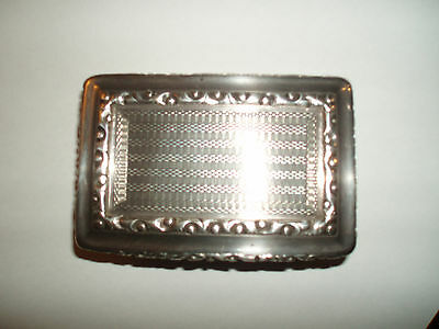 Late George IV Silver Card Case by Edward Smith Birmingham 1827