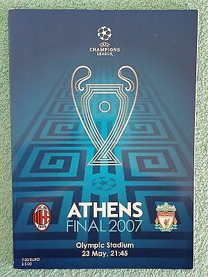 2007 - CHAMPIONS LEAGUE FINAL PROGRAMME - AC MILAN v LIVERPOOL