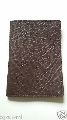 Brown leather golf yardage book cover golf scorecard holder new FREE SHIPPING