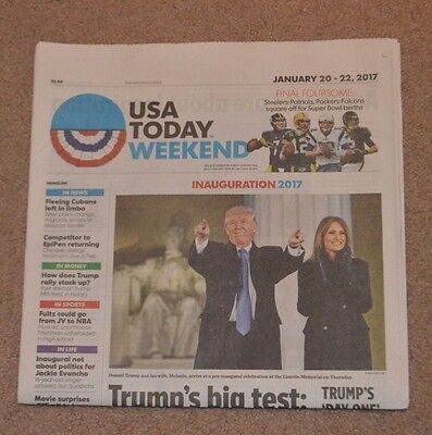 """Donald Trump Wins the 45th President """"USA Today 1/20/17 Inauguration"""