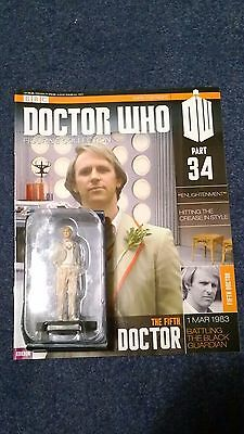 Eaglemoss doctor who figurine collection - Issue 34: THE FIFTH DOCTOR