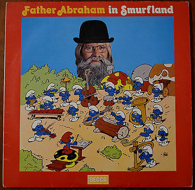 Father Abraham and The Smurfs – Father Abraham In Smurfland LP – SMURF-R1 – VG
