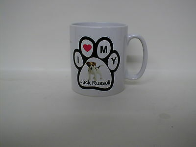 New Jack Russell Terrier Photo / `i Love My Jack Russell` Paw Print Mug