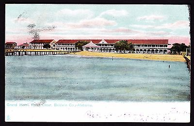 Point Clear Baldwin County Alabama - Grand Hotel mailed antique postcard
