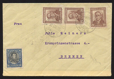 Chile 1932 cover to Bremen Germany
