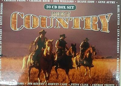 Legend of Country 20 CD Box Set Johnny Cash Rodgers Hank Williams Reeves Nelson