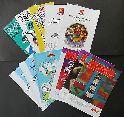 Stamp Bug Calendars and Collectors Guides various dates from 1981-1998