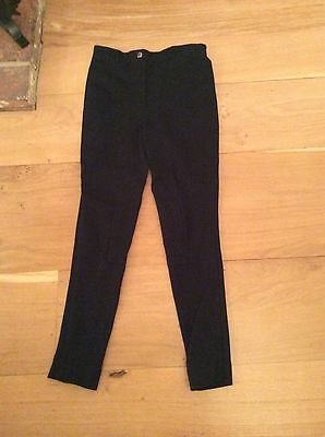 Black Childs Jodhpurs Equestrian Horse Riding Pony Size 26""