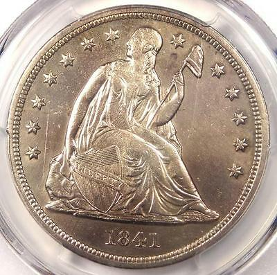 1841 Seated Liberty Silver Dollar $1 - PCGS XF Details (EF) - Rare Date Coin!