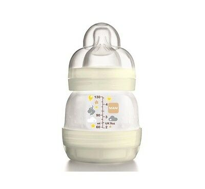 MAM Anti-Colic, Self Steralising unisex bottle 130ml